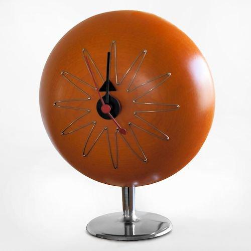 ジョージ・ネルソン/Pill Clockピルクロックメープル無垢材メイン画像-デザイナーズ家具通販N PLUS