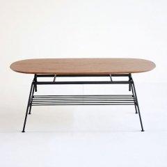 ミッドセンチュリーデザイン/Jazzジャズアジャスタブルマルチテーブル【高さ5段階調節】
