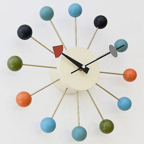 ジョージ・ネルソン/BallClockボールクロック【Verichronマルチカラー】メイン画像-デザイナーズ家具通販N PLUS