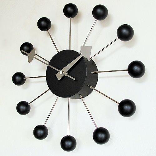ジョージ・ネルソン/BallClockボールクロック【Verichronブラックエディション】メイン画像-デザイナーズ家具通販N PLUS
