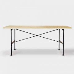 GARTガルト/北欧+インダストリアルデザインフルークダイニングテーブル【W180cm】