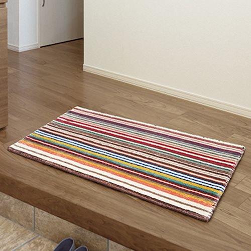 HomeRug/マルチストライプデザイン玄関マットELM-203詳細画像-デザイナーズ家具通販N PLUS