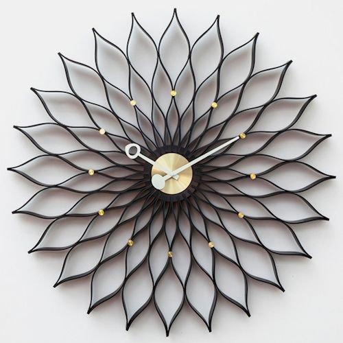 ジョージ・ネルソン/SunflowerClockサンフラワークロック【Verichronブラック】メイン画像-デザイナーズ家具通販N PLUS