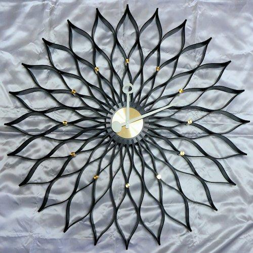ジョージ・ネルソン/SunflowerClockサンフラワークロック【Verichronブラック】詳細画像1
