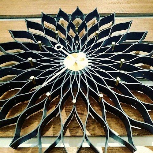ジョージ・ネルソン/SunflowerClockサンフラワークロック【Verichronブラック】詳細画像2