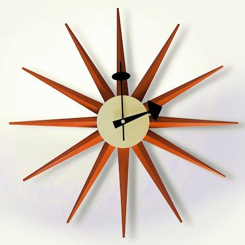 ジョージ・ネルソン/SunburstClockサンバーストクロック【追加色ライトブラウン】詳細画像-デザイナーズ家具通販N PLUS