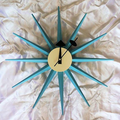 ジョージ・ネルソン/SunburstClockサンバーストクロック【追加色ブルー】詳細画像1