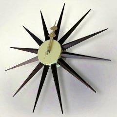 ジョージ・ネルソン/SunburstClockサンバーストクロック【ウォールナット塗装仕上げ】