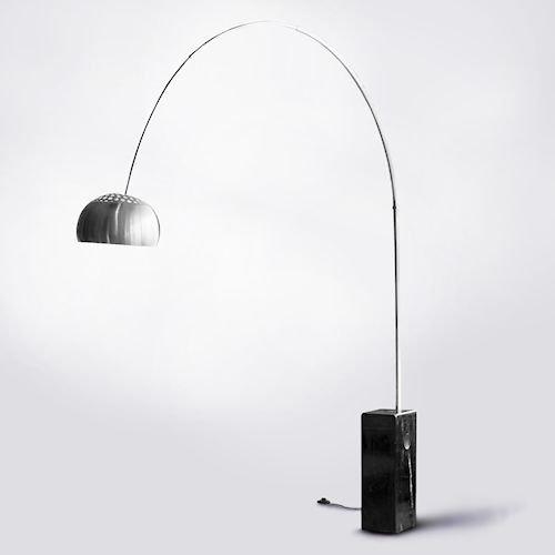 アッキーレ・カスティリオーニ/アルコランプArcoPSE取得済【ブラック230cm】メイン画像-デザイナーズ家具通販N PLUS
