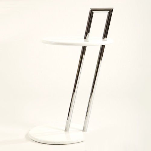 アイリーン・グレイ/オケージョナルラウンドテーブル/MDFイタリアスティールラインメイン画像-デザイナーズ家具通販N PLUS