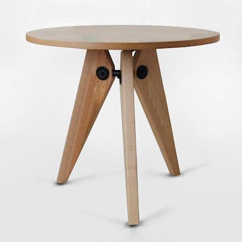 ジャン・プルーヴェ/ダイニングテーブルGueridonゲリドン【Ф80cm】メイン画像-デザイナーズ家具通販N PLUS