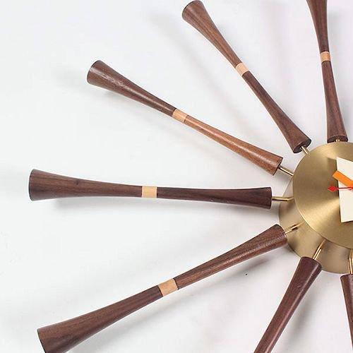 ジョージ・ネルソン/SpindleClockスピンドルクロック【ウォールナット×真鍮】詳細画像6
