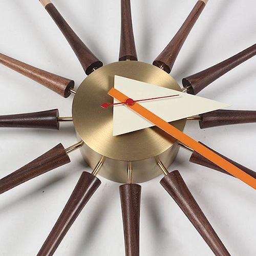 ジョージ・ネルソン/SpindleClockスピンドルクロック【ウォールナット×真鍮】詳細画像7