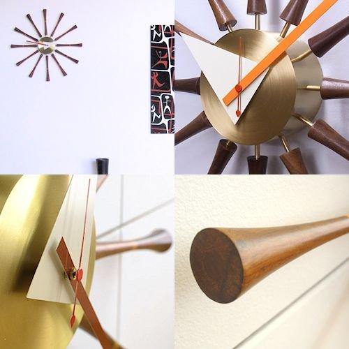 ジョージ・ネルソン/SpindleClockスピンドルクロック【ウォールナット×真鍮】詳細画像8