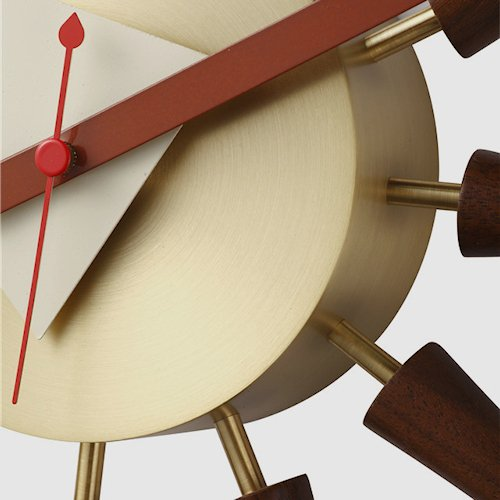 ジョージ・ネルソン/SpindleClockスピンドルクロック【ウォールナット×真鍮】詳細画像9
