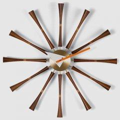 ジョージ・ネルソン/SpindleClockスピンドルクロック【ウォールナット×真鍮】