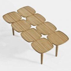 ショーン・ディックス/PetalLowTableペタルローテーブルC【100×50cm】