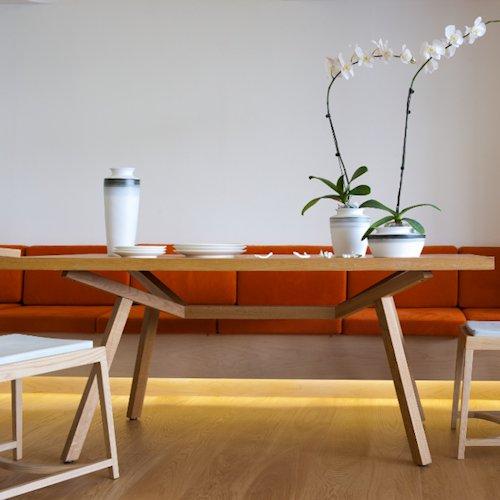 ショーン・ディックス/ForteTableフォルテダイニングテーブル【MDF突板天板180×90cm】詳細画像5