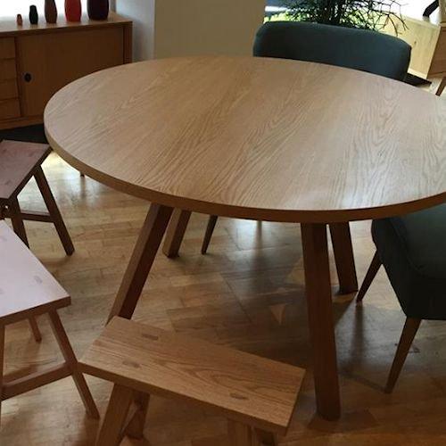ショーン・ディックス/ForteTableフォルテダイニングテーブル【MDF天板Ф120cm】詳細画像3
