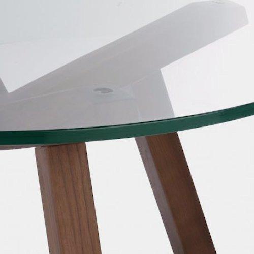 ショーン・ディックス/ForteLowTableフォルテローテーブル【ガラス天板Ф90cm】詳細画像9