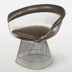 ウォーレン・プラットナー/Platnerアームチェア【レザー仕様】-デザイナーズ家具通販N PLUS