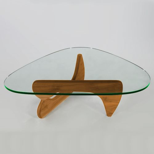 イサム・ノグチ/コーヒーテーブル19mm強化ガラス×オーク無垢材詳細画像-デザイナーズ家具通販N PLUS