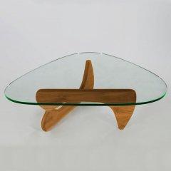 イサム・ノグチ/コーヒーテーブル19mm強化ガラス×オーク無垢材-デザイナーズ家具通販N PLUS