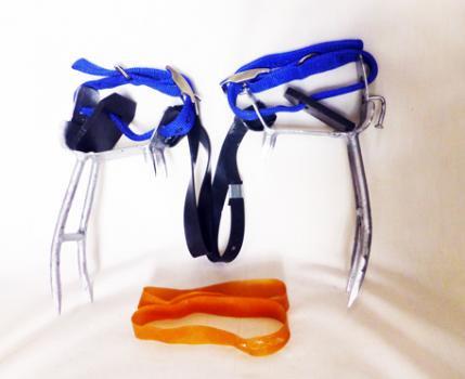 木登り器プロ型 チャマガニ 板厚3.2ミリ ピン付甲ベルト付 4本爪