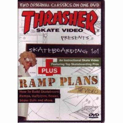 THRASHER SKATE VIDEO  skateboarding 101 Plus RAMP PLANS /DVTV-11 ☆★