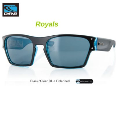 [CARVE/カーブ]SUNGLASSES【サングラス】 Royals Black/Clear Blue POLARIZED/ SGCV-112