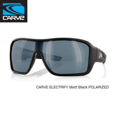 [CARVE/カーブ]SUNGLASSES【サングラス】 ELECTRIFY Matt Black POLARIZED / SGCV-121