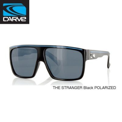 [CARVE/カーブ]SUNGLASSES【サングラス】 THE STRANGER Black POLARIZED/ SGCV-139
