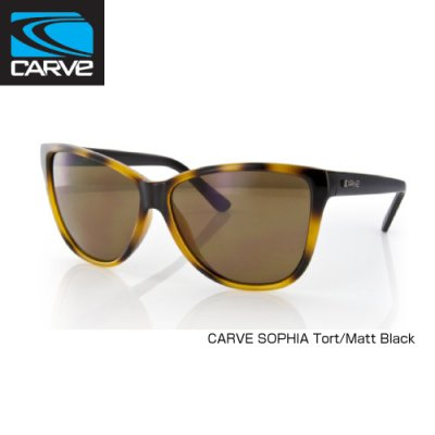[CARVE/カーブ]SUNGLASSES【サングラス】CARVE SOPHIA Tort/Matt Black レディース SGCV-150