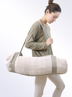 <WSDO>Natural dyeing Yoga Mat Bag