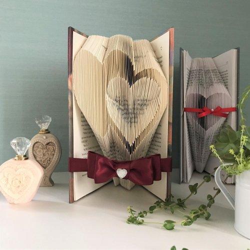 Book Art ブックアート【Wハート/レシピ】
