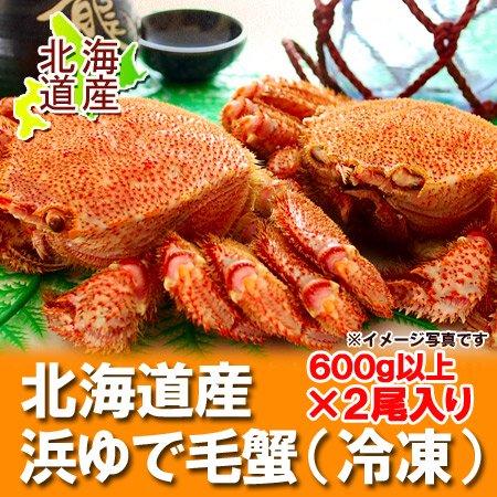 北海道産 毛ガニ 特大 浜ゆで かに 北海...
