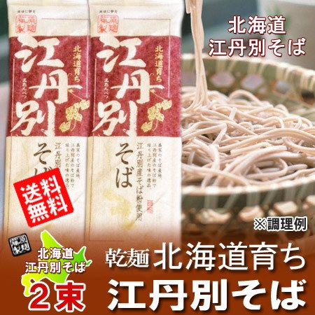 「北海道 そば 送料無料」 北海道 江丹別蕎麦 乾麺 250 g×2束「メール便 送料無料 蕎麦」「ポイント消化 送料無料 ポイント消…