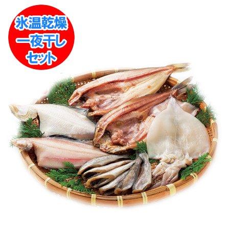 「北海道 干物セット 送料無料」 氷温乾燥 北海道産の開きほっけ・真いか・かれい・こまい 一夜干しセット ネット価格 5,00…