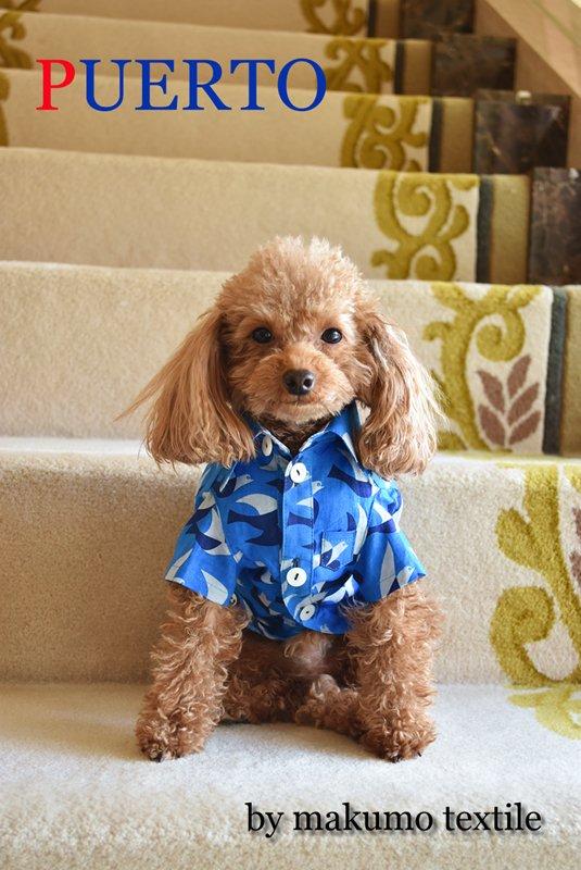青の鳥 半袖シャツ by makumo textile