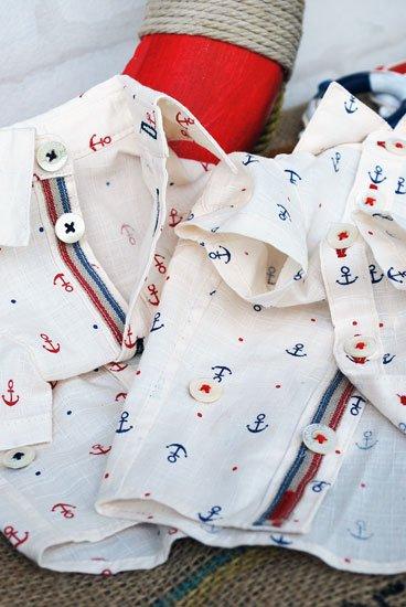 アンカートリコロールシャツ(2色)