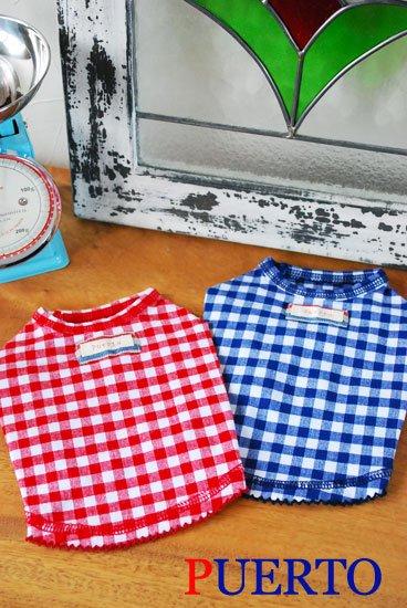 ギンガムトリコTシャツ(2色)