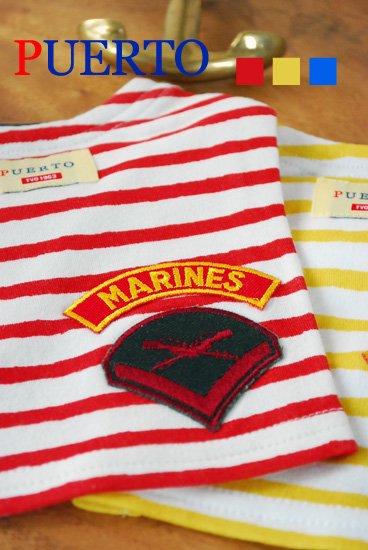 マリンボーダーワッペンTシャツ(3色)