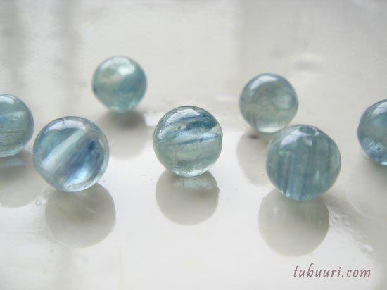 トップグレード!タンザニア産ブルーグリーンカイヤナイト(グリーン強)AAA+丸玉6mm【1粒588円】