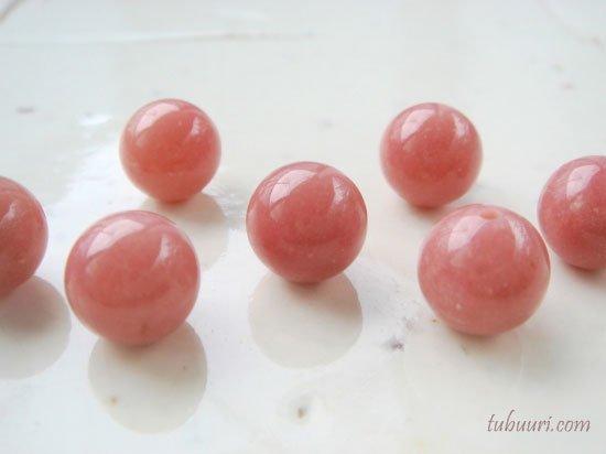 濃いピンク!ペルー産ピンクオパールAAA丸玉・約10mm【1粒1,200円】
