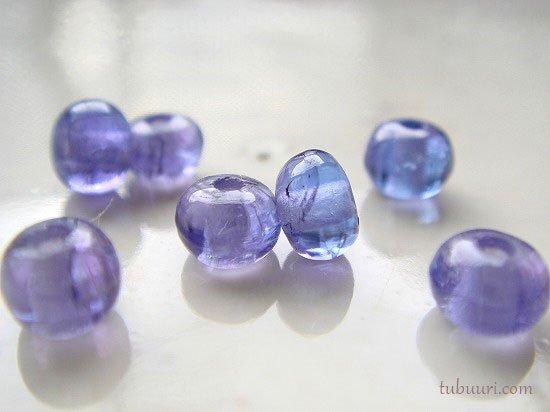 素晴らしい透明感!宝石質タンザナイトAAA++ロンデル(穴径0.8~1.0mm)約4.5x4.5x2.8~5.2x5.2x4.1mm【1粒330円…