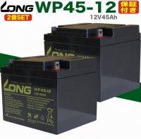 【保証書付き】送料無料 2個セット セニアカー用 バッテリー WP45-12 (12V45Ah) SER38-12 互換バッテリー ET4 マイメイト モンパル 遊歩 スーパーポルカー