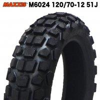 MAXXIS製 M6024 120/70-12 51J (オフロード&ダートタイヤ)