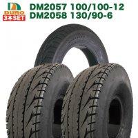 3本セット 前後タイヤ DM2057 100/100-12 62J/TL  DM2058 130/90-6 TT 53J HONDA 2サイクル ジャイロキャノピー用