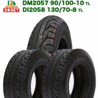 3本セット DUROタイヤ ホンダ 4サイクル ジャイロ X 用 前後タイヤセット DM2057 90/100-10 /  DI2058 130/70-8