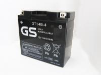 【保証書付き】台湾GSバッテリー GT14B-4 (液入り・YT14B-BS互換・充電済) ドラッグスター1100等